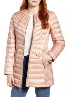 Ellen Tracy Collarless Packable Down Puffer Coat