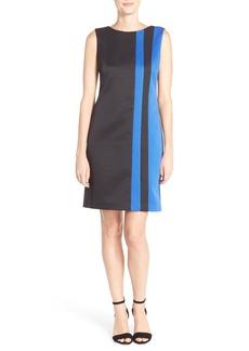 Ellen Tracy Colorblock Sleeveless Pique Shift Dress (Regular & Petite)