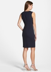 Ellen Tracy Colorblock V-Neck Sheath Dress (Regular & Petite)