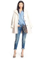 Ellen Tracy Convertible Collar Kimono Sleeve Coat (Regular & Petite) (Nordstrom Exclusive)