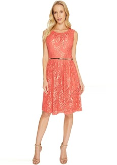 Ellen Tracy Coral Lace Dress