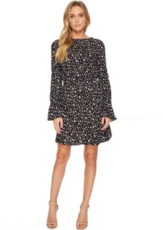 Crew Neck Dress With D-Ring Belt