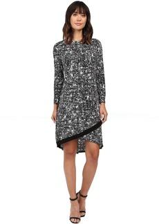 Ellen Tracy Crossover Hem Dress