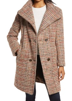 Ellen Tracy Double Breasted Wool Blend Coat