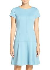 Ellen Tracy Drop Waist Ponte Dress (Regular & Petite)