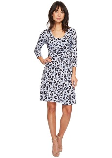 Ellen Tracy Elbow Sleeve Side Twist Dress