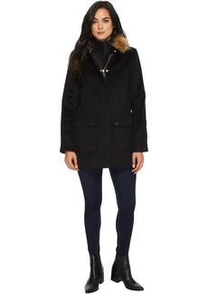 Ellen Tracy Faux Wool Twill Coat