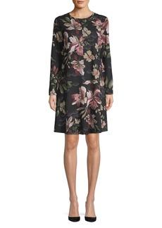 Ellen Tracy Floral A-Line Dress