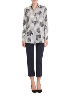 ELLEN TRACY Floral Button-Front Blouse