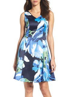Ellen Tracy Floral Fit & Flare Dress