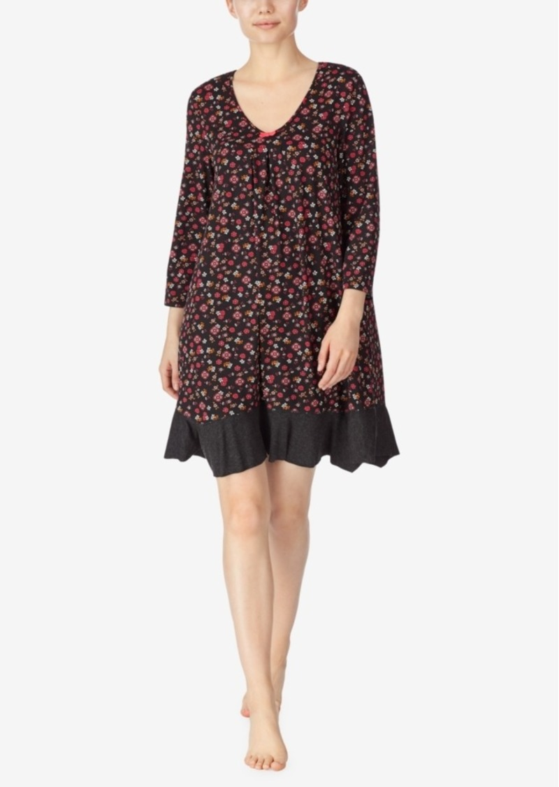 Ellen Tracy Floral Knit Sleepshirt, Online Only