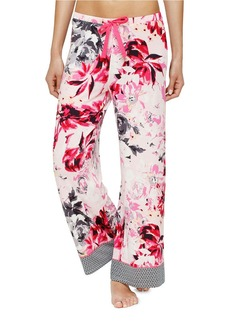 ELLEN TRACY Floral Print Wide Legs Palazzo Pants