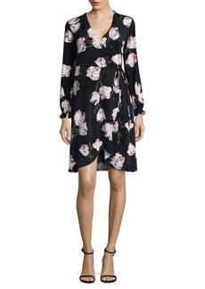 Ellen Tracy Floral Wrap Dress