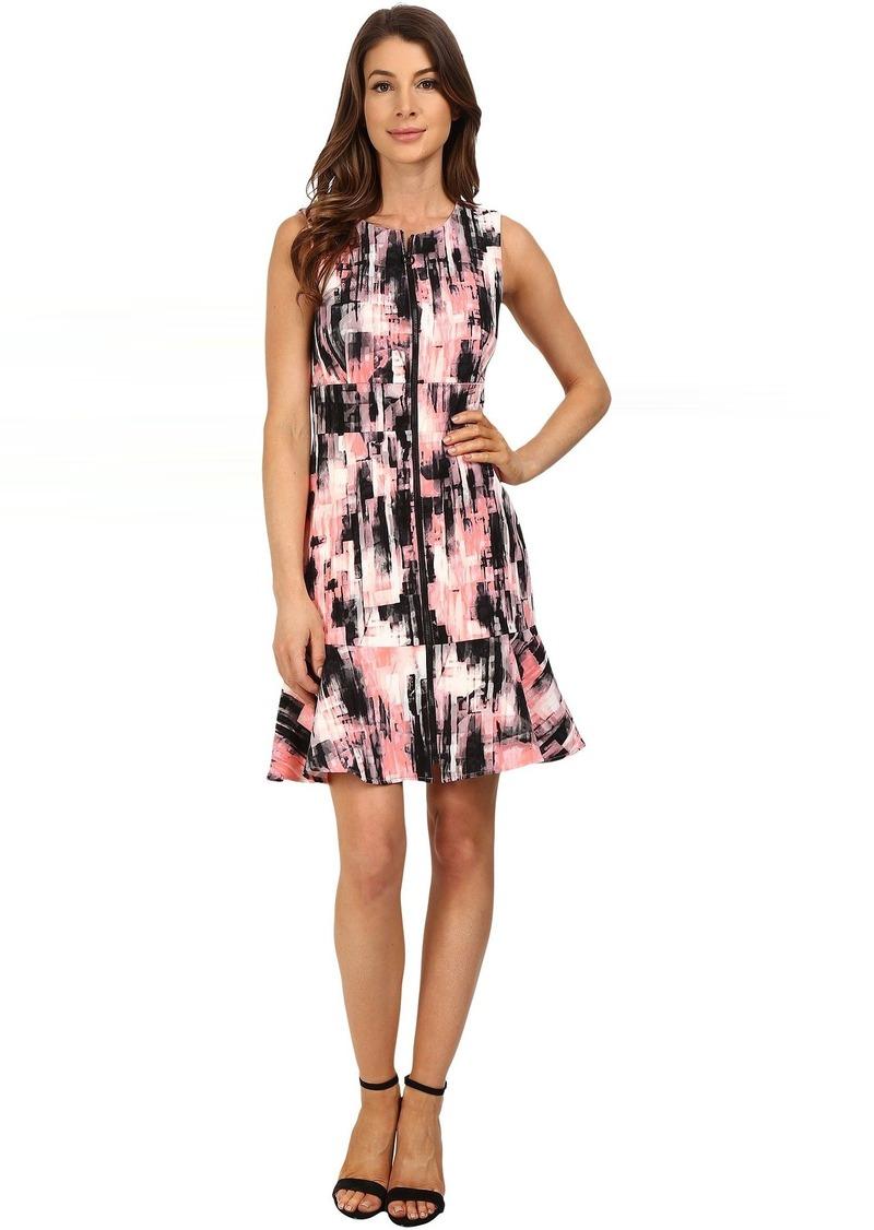 Ellen Tracy Flounce Hem Sheath Dress