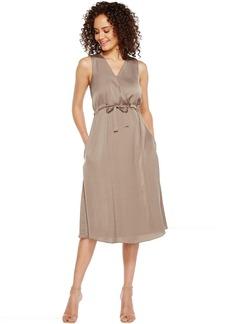 Front Tie Wrap Dress