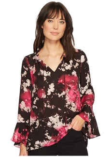 Ellen Tracy Full Sleeve Blouse with Tie