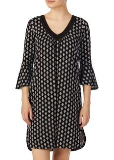 Ellen Tracy Geometric Bell Sleeve Tunic
