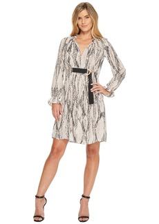 Ellen Tracy Georgette Printed Shirt Dress