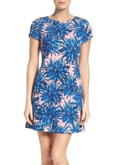 Ellen Tracy Graphic Crepe Dress