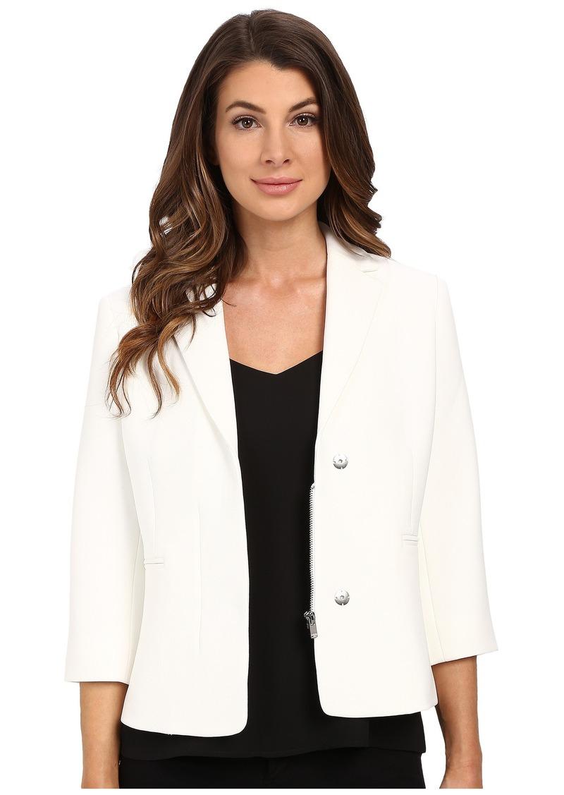 Ellen Tracy Hidden Zip Front Blazer