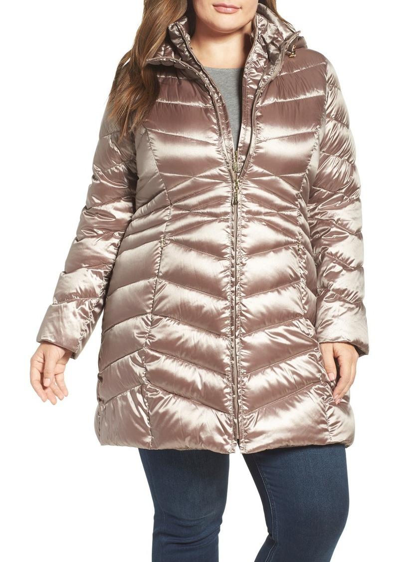 Ellen Tracy Hooded Down & Polyfill Coat (Plus Size)