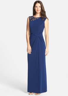 Ellen Tracy Lace & Jersey Gown