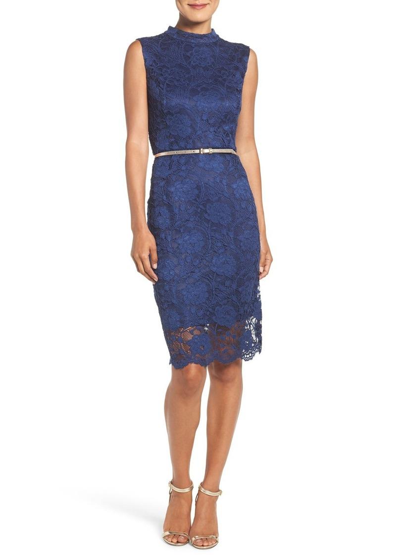 Ellen Tracy Lace Midi Dress