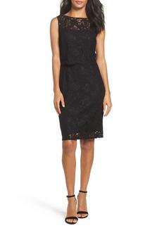 Ellen Tracy Lace Popover Dress