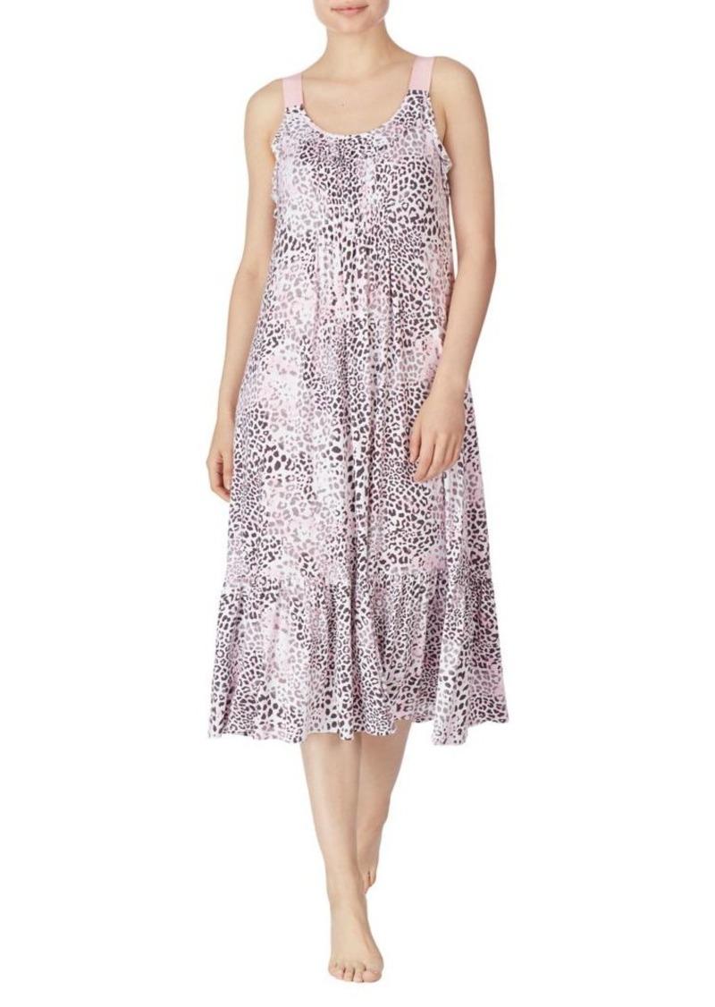 Ellen Tracy Leopard-Print Nightgown