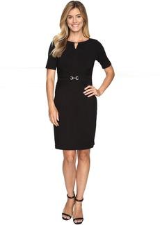 Ellen Tracy Luxe Stretch Dress w/ Keyhole