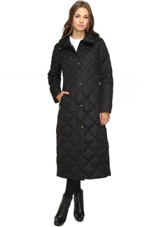 Ellen Tracy Matte Satin Diamond Quilted Jacket