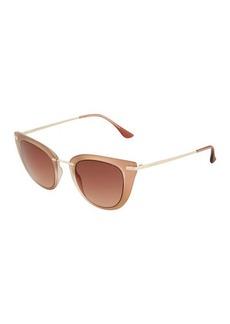 Ellen Tracy Metal Cat Eye Sunglasses