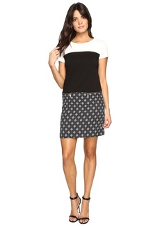 Ellen Tracy Mixed Media T-Shirt Dress
