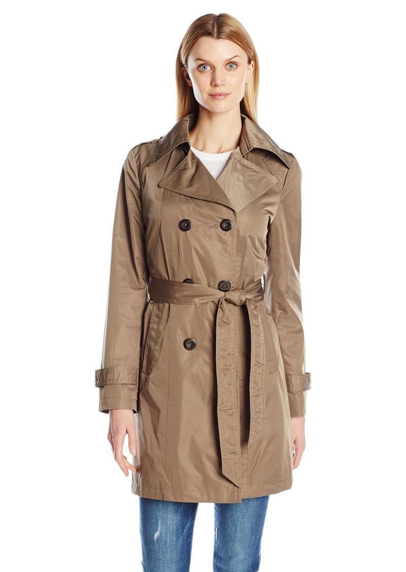 ELLEN TRACY Outerwear Women's Doublebreasted Techno Trench Coat