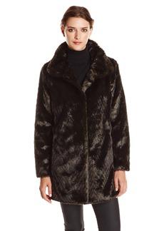 Ellen Tracy Outerwear Women's Faux Fur Coat