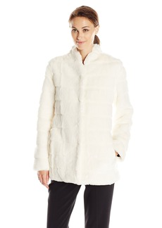Ellen Tracy Outerwear Women's Faux Fur Lady Coat