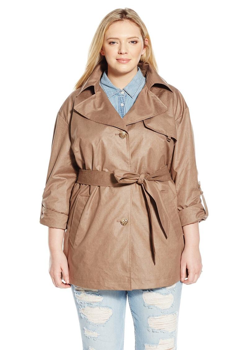d695b98a4b0 Pleated Back Sharkbite Trench Coat Orange. London Fog Plus Size Coats Anta  Expocoaching Co