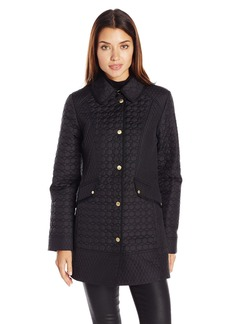 Ellen Tracy Outerwear Women's Quilted Barn Coat  Small