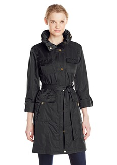 Ellen Tracy Outerwear Women's Safari Techno Trench