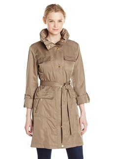 ELLEN TRACY Outerwear Women's Safari Techno Trench Coat