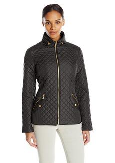 ELLEN TRACY Outerwear Women's Zip Font Quilt Jacket