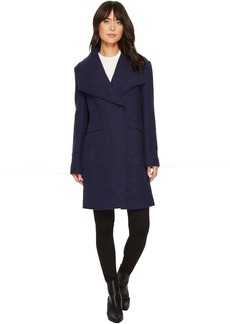 Ellen Tracy Oversize Collar Boucle Coat