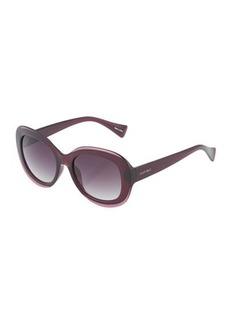 Ellen Tracy Oversized Oval Plastic Sunglasses