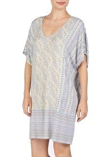Ellen Tracy Pailsey Kimono Sleeve Caftan