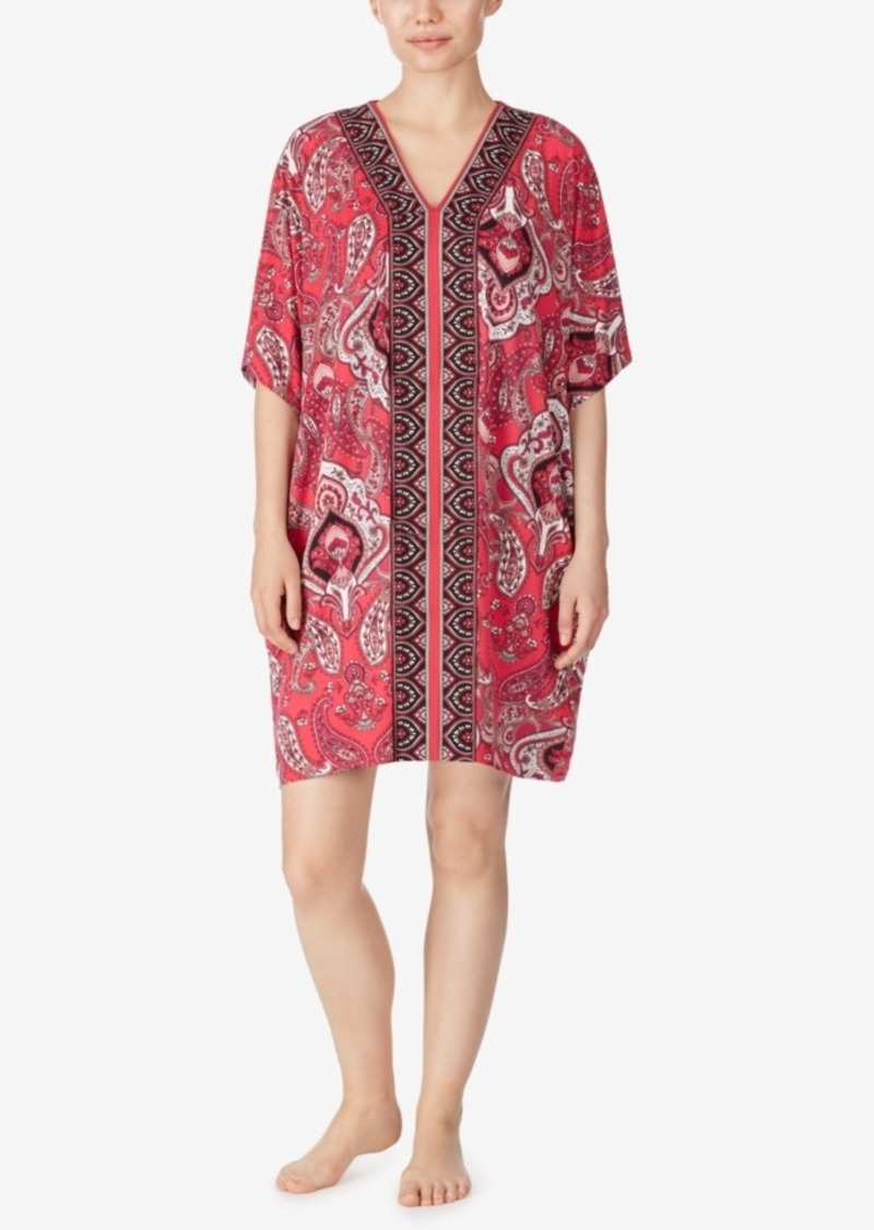 Ellen Tracy Paisley Knit Short Caftan, Online Only