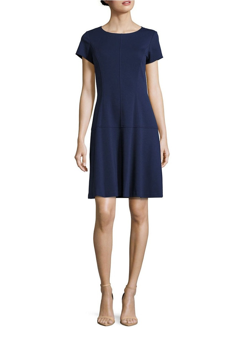 ELLEN TRACY Paneled A-Line Dress