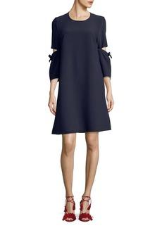 Ellen Tracy Bell-Sleeve Shift Dress