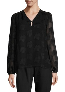 Ellen Tracy Petite Illusion Sleeve Blouse