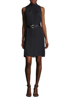 Ellen Tracy Petite Lace Belted Sheath Dress