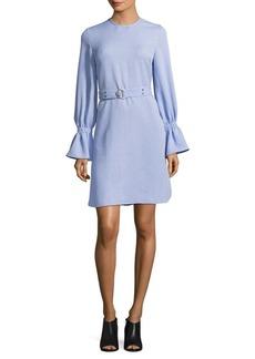 Ellen Tracy Long-Sleeve Belted Dress